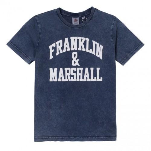 Μπλούζα μπλε για αγόρι Franklin & Marshall FMS0470-203