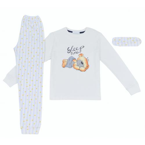 Πυζάμα με μάσκα ύπνου για κορίτσι Ebita H-116