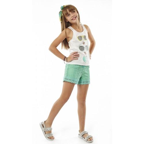 Σετ ρούχο μπλούζα με σορτς για κορίτσι Ebita 214035