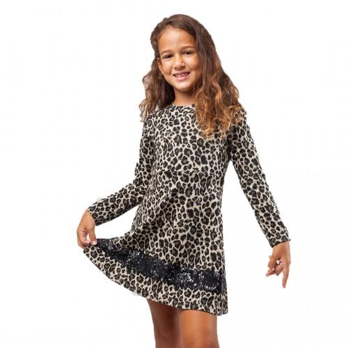 Φόρεμα λεοπάρτ για κορίτσι Scarabeo 6412