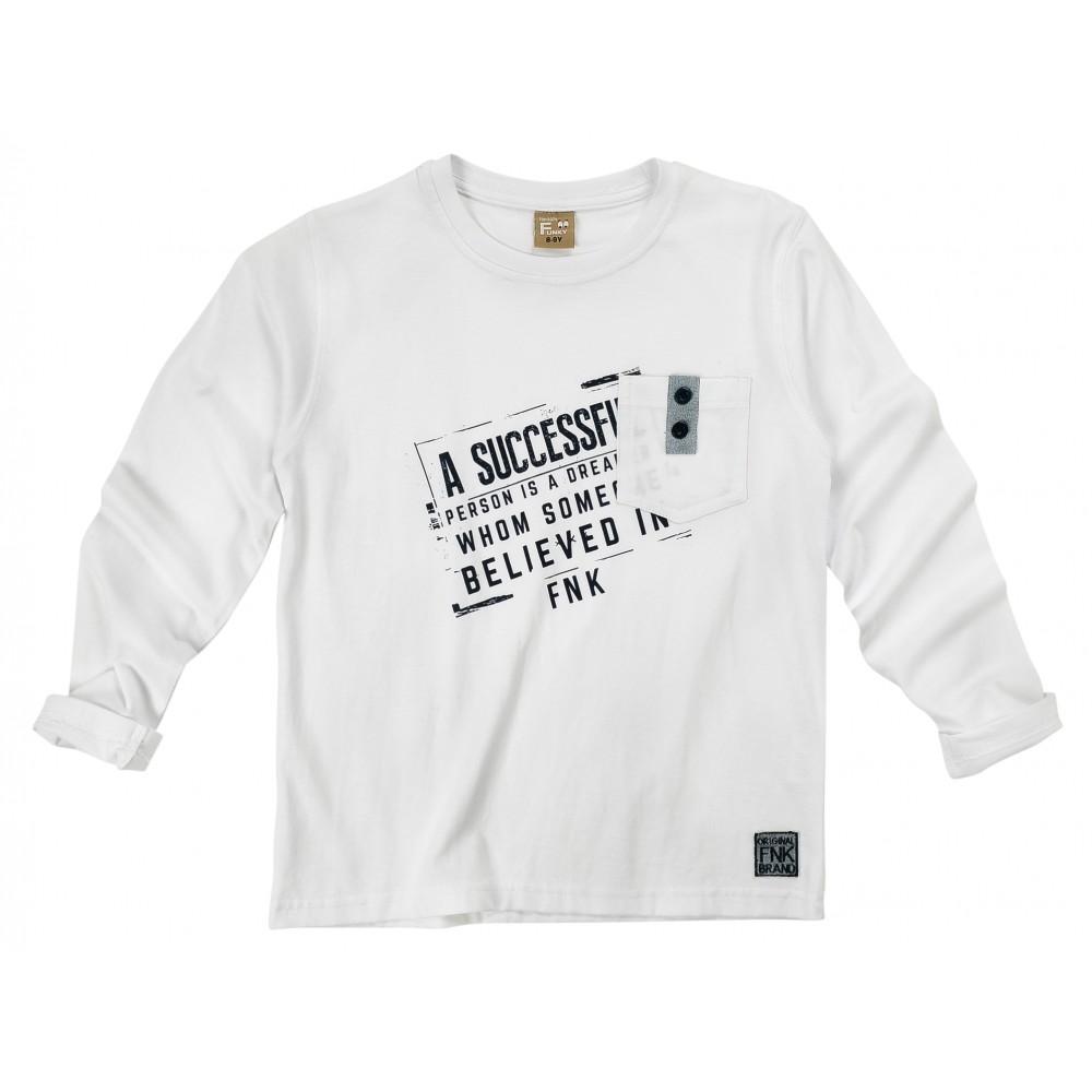 Μπλούζα λευκή για αγόρι For Funky 120-106105-1