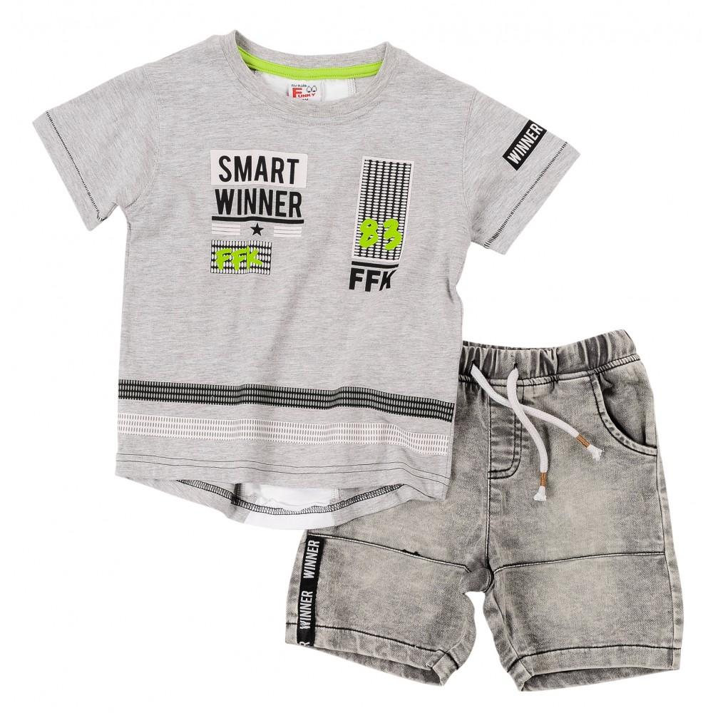Σετ ρούχο μπλούζα με βερμούδα για αγόρι For Funky 120-302115-1