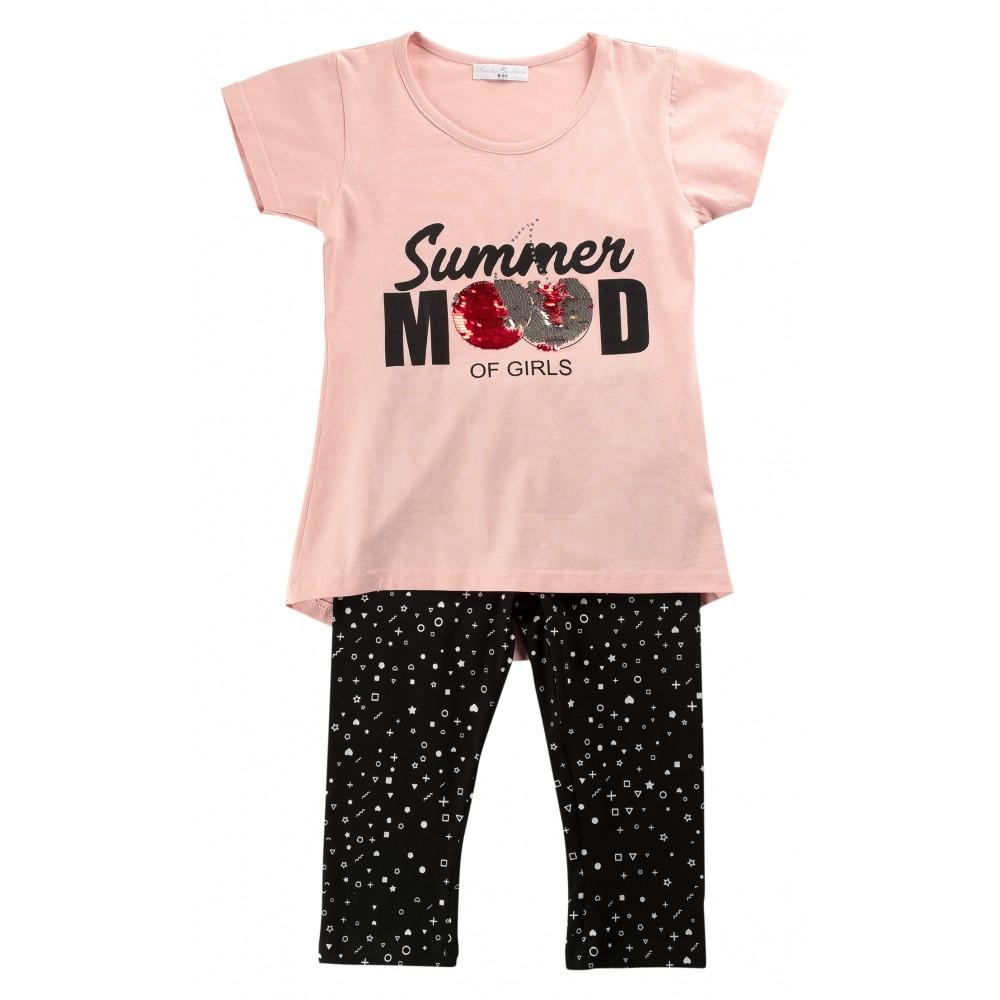 Σετ ρούχο μπλούζα με κολάν για κορίτσι For Funky 120-519100-1