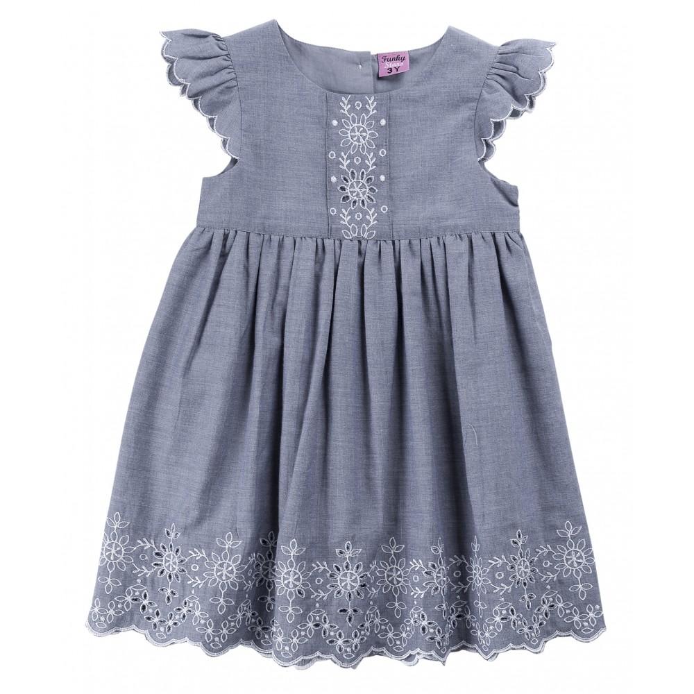 Φόρεμα τζιν για κορίτσι For Funky 120-729125-1
