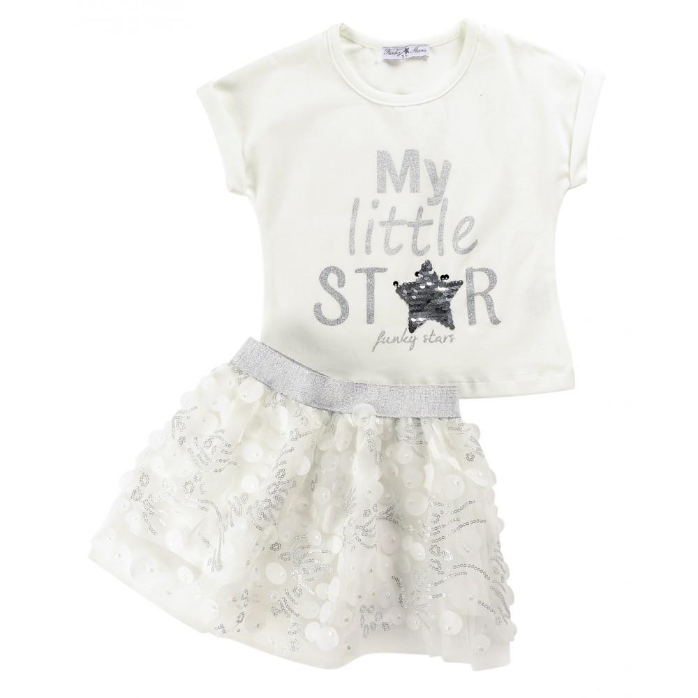 Σετ ρούχο μπλούζα με φούστα για κορίτσι For Funky 120-742109-1