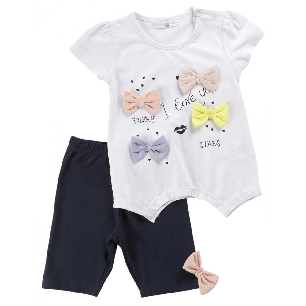 Σετ ρούχο μπλούζα με κολάν για κορίτσι For Funky 120-919101-1