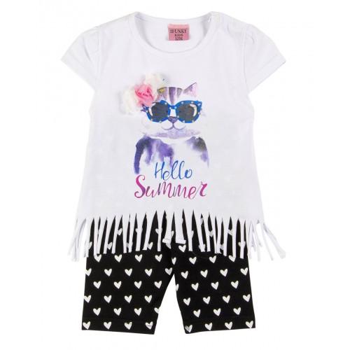 Σετ ρούχο μπλούζα με κάπρι κολάν για κορίτσι For Funky 121-919107-1