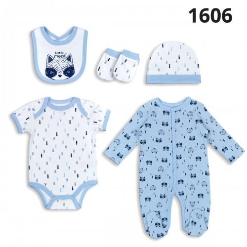 Σετ νεογέννητο 5 τεμ αγόρι Serafino 1606
