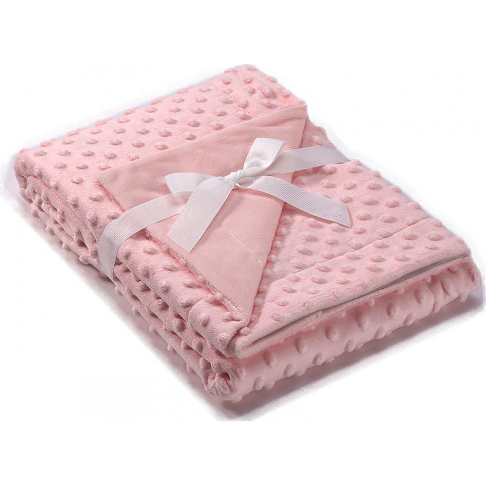 Morven Κουβέρτα Αγκαλιάς & Λίκνου Copitos Βελουτέ 80x110cm Pink