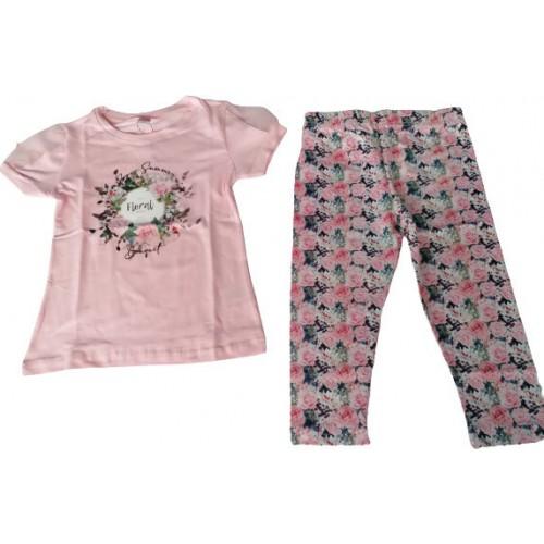 Σετ ρούχο μπλούζα με κάπρι κολάν για κορίτσι Joyce 211521