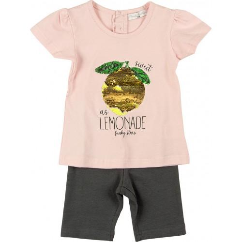 Σετ ρούχο μπλούζα με κάπρι κολάν για κορίτσι For Funky 121-919112-1