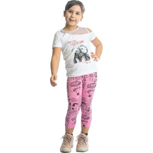 Σετ ρούχο μπλούζα με κάπρι κολάν για κορίτσι Joyce 211523