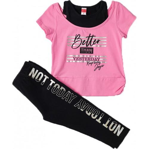 Σετ ρούχο μπλούζα με κάπρι κολάν για κορίτσι Joyce 211524