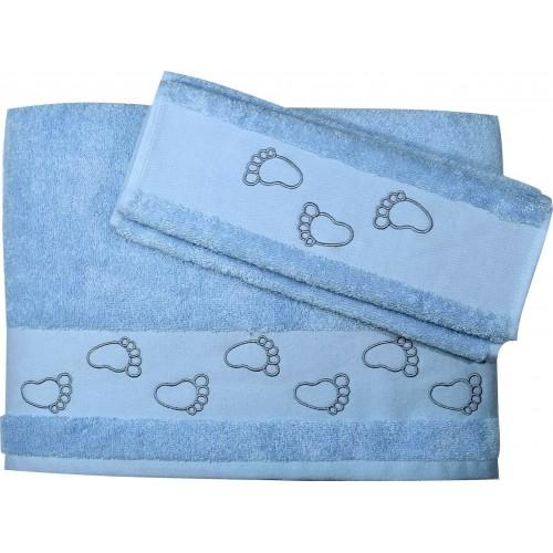 Σετ Βρεφικές Πετσέτες Μπάνιου 2 Τεμαχίων Morven 2008 Σιέλ