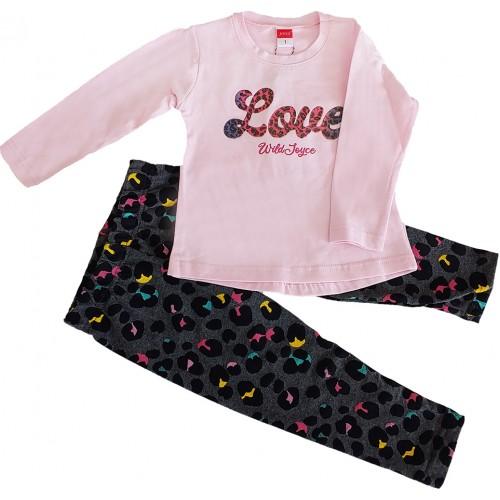 Σετ ρούχο μπλούζα με κολάν για κορίτσι Joyce 216155