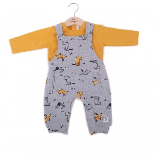 Φορμάκι σαλοπέτα με μπλούζα για αγόρι Baby bol 21840