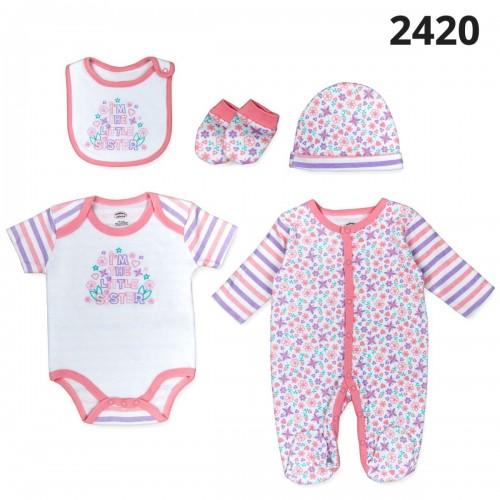 Σετ νεογέννητο 5 τεμ κορίτσι Serafino 2420