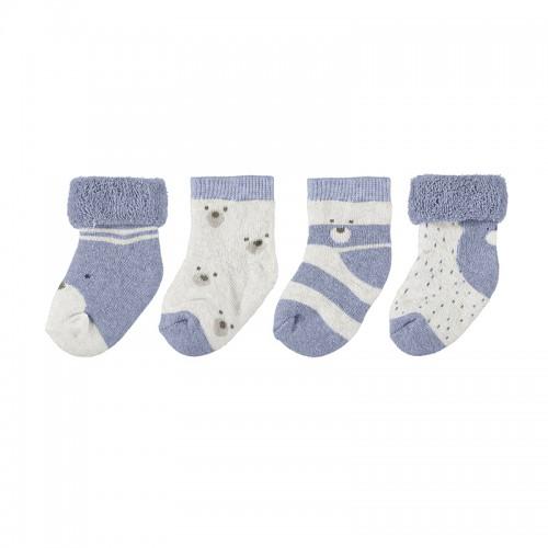 Σετ 4 καλτσάκια για αγόρι Newborn Mayoral 11-09421-080