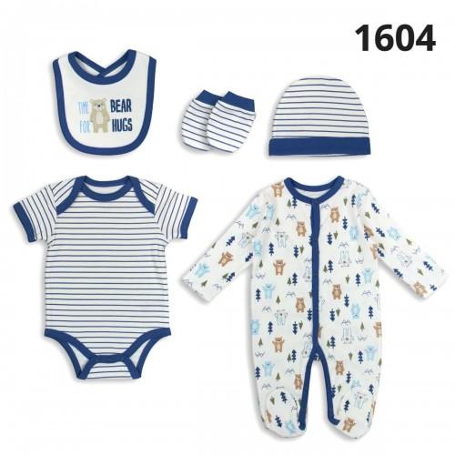 Σετ νεογέννητο 5 τεμ αγόρι Serafino 1604