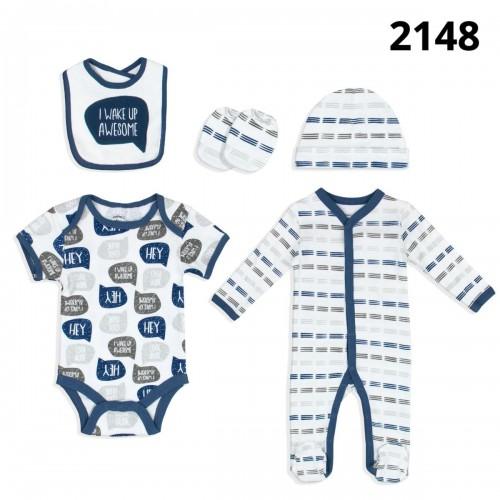 Σετ νεογέννητο 5 τεμ αγόρι Serafino 2148