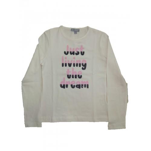 Μπλούζα εκρου για κορίτσι Fun Strike 3763