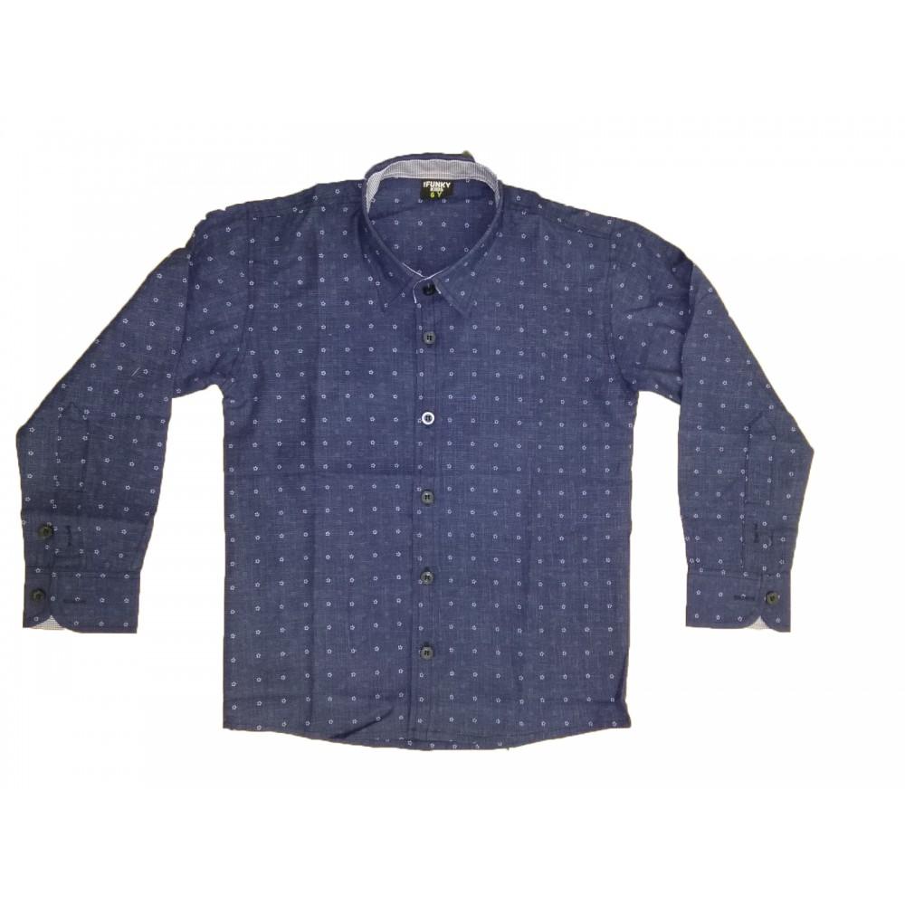 Πουκάμισο μπλε για αγόρι For Funky 220-108132-1