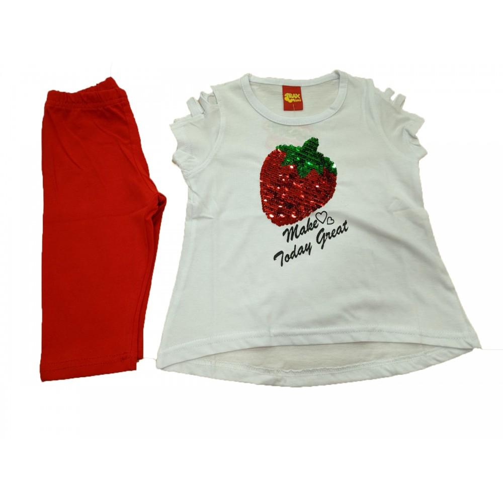 Σετ ρούχο λευκό για κορίτσι Trax 37252
