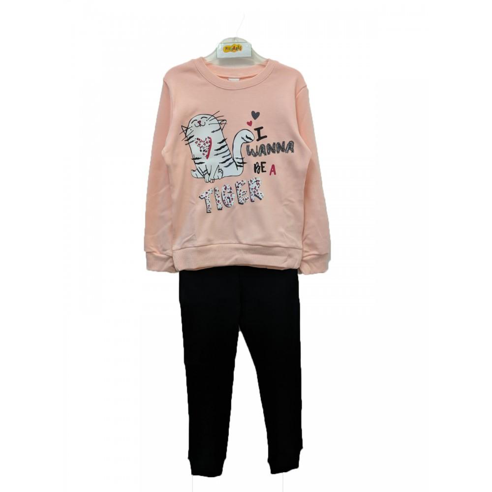 Πυζάμα ροζ για κορίτσι Trax 38693