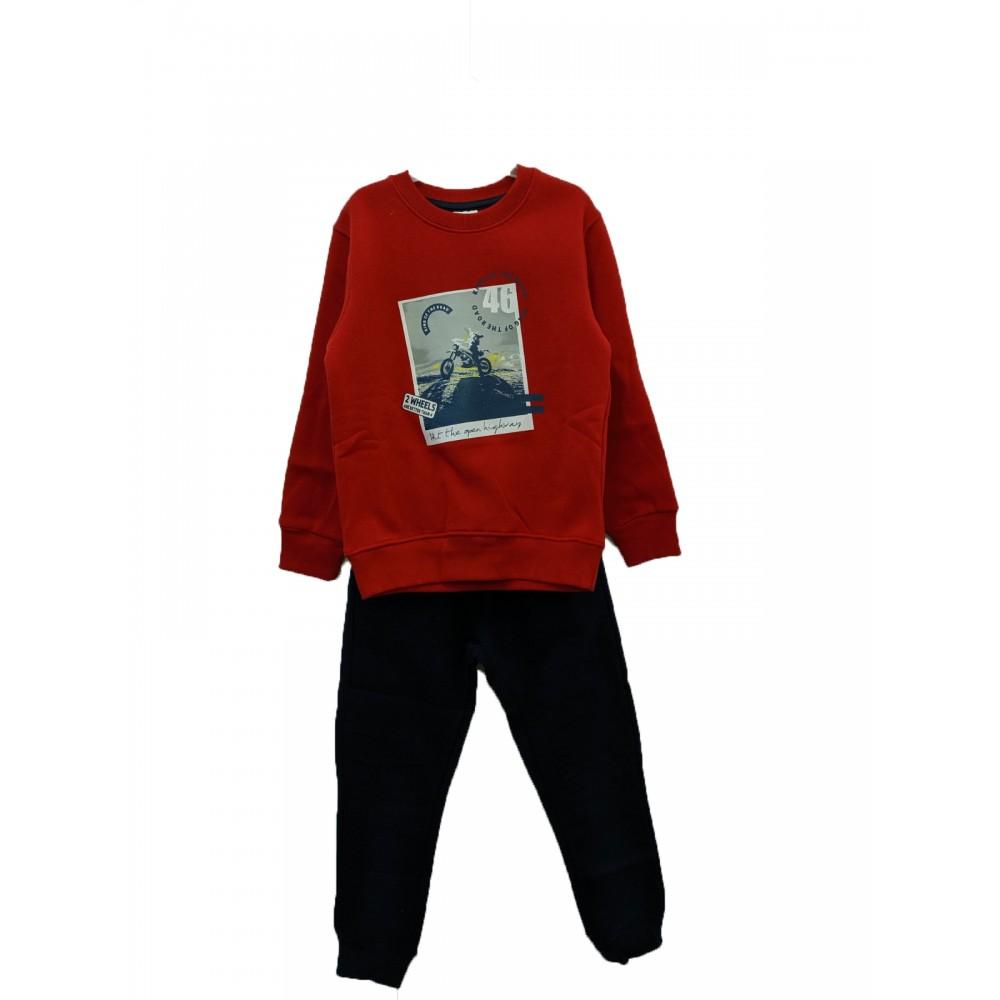 Σετ φόρμα κόκκινη για αγόρι For Funky 221-117140-2