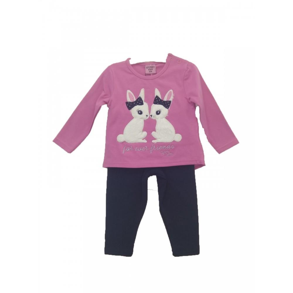 Σετ ρούχο μπλούζα με κολάν για κορίτσι For Funky 221-921121-1