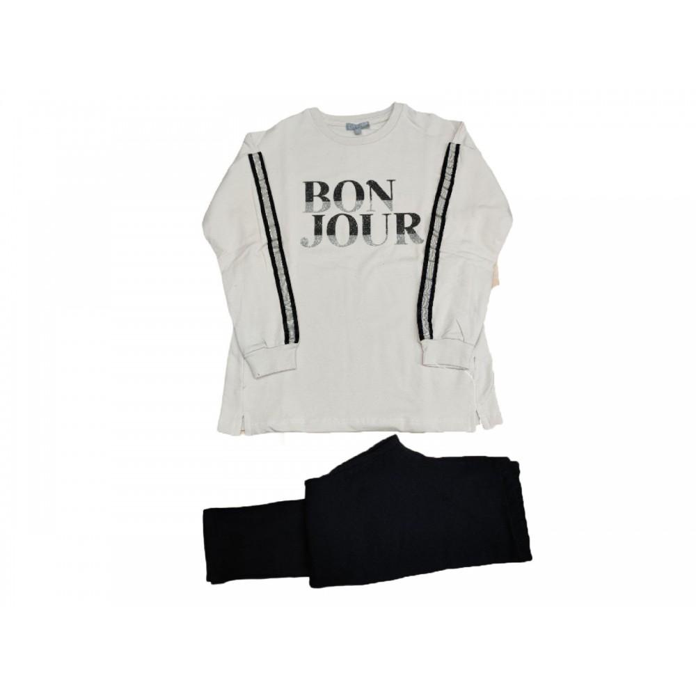 Σετ ρούχο μπλούζα με κολάν για κορίτσι Fun strike 3790