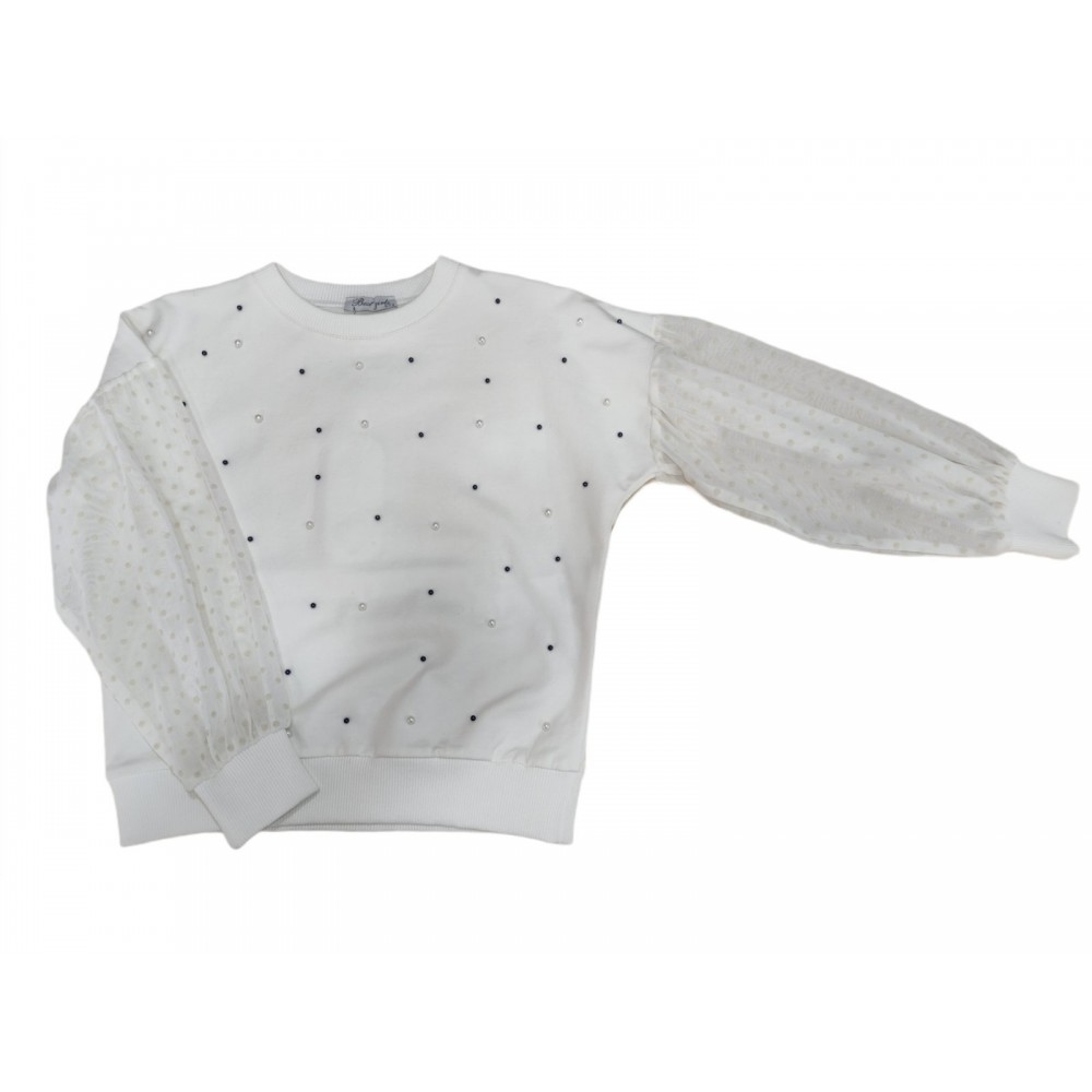Μπλούζα λευκή για κορίτσι Trax 4478