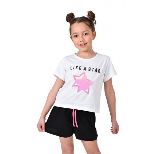 Σετ ρούχο μπλούζα με σορτς για κορίτσι Trax 39107
