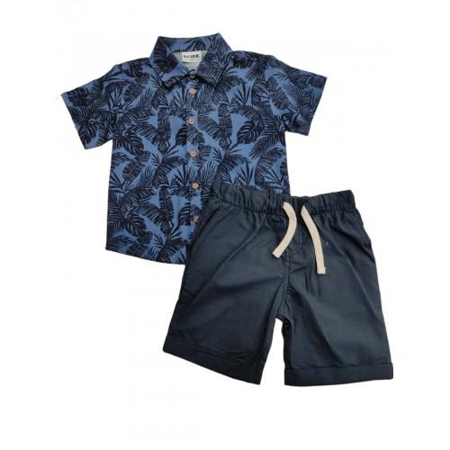Σετ ρούχο πουκάμισο με βερμούδα για αγόρι Trax 39442