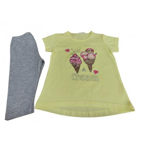 Σετ ρούχο μπλούζα με κάπρι κολάν για κορίτσι Trax 39216