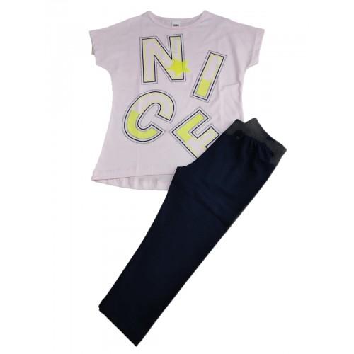 Σετ ρούχο μπλούζα με κάπρι κολάν για κορίτσι Trax 39112
