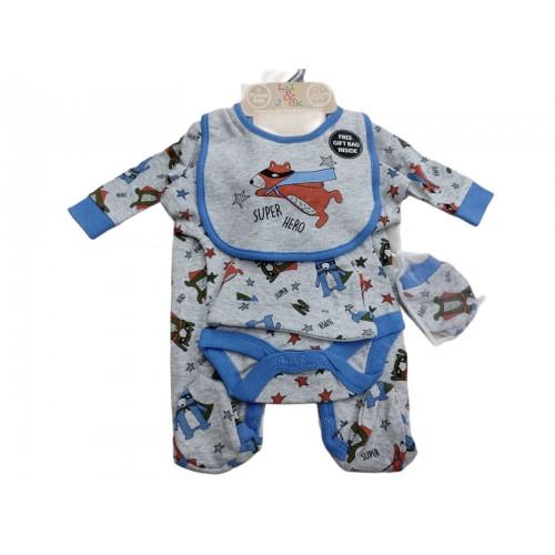 Σετ νεογέννητο 5 τεμ αγόρι Serafino N15123