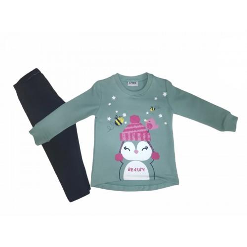 Σετ ρούχο μπλούζα με κολάν για κορίτσι Trax 40746