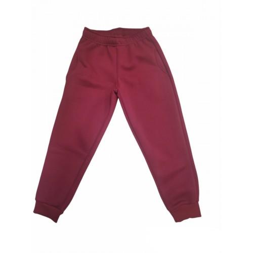 Παντελόνι φόρμας μπορντό χειμωνιάτικο για αγόρι Trax 40832