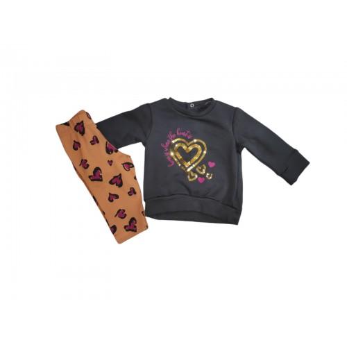 Σετ ρούχο βρεφικό μπλούζα με κολάν για κορίτσι Baby bol 21122