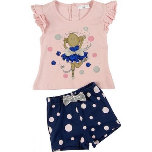 Σετ ρούχο μπλούζα με σορτς για κορίτσι For Funky 121-924102-1