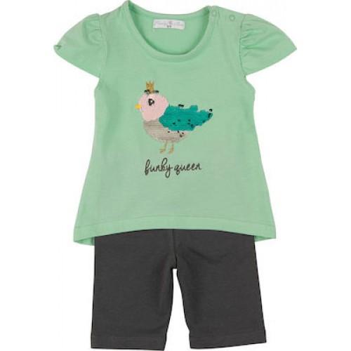 Σετ ρούχο μπλούζα με κάπρι κολάν για κορίτσι For Funky 121-919111-1
